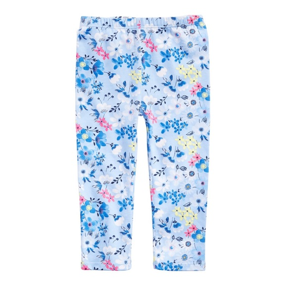 First Impressions Other - NWT First Impressions Blue Floral Leggings 18mo